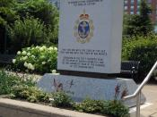 English: Memorial in Halifax, Nova Scotia to the members of the Royal Canadian Navy who perished during the Battle of the Atlantic in the Second World War. The monument was dedicated by Queen Elizabeth II in 2010 on the occasion of the 100th anniversary o