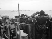 On lookout for U-boats in the Second Battle of the Atlantic, October 1941