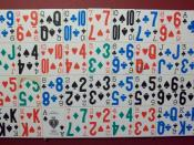 English: The odds of any particular arrangement of cards being shuffled twice are so large that they are not comprehensible in human mind. No two shuffles have ever been identical.