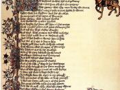 Français : Début du Conte du Chevalier dans le manuscrit Ellesmere. Image dans le domaine public.