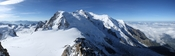 Mont Blanc as seen from Aiguille du Midi Deutsch: Montblanc von der Aiguille du Midi aus gesehen