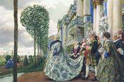 Elizaveta Petrovna in Tsarskoe Selo (1905), painting by Eugene Lanceray, now in the Tretyakov Gallery.