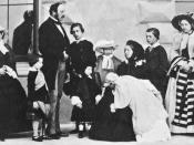 English: Prince Albert, Queen Victoria and their nine children