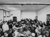 Charles Fitzpatrick addressing the jury during the trial of Louis Riel