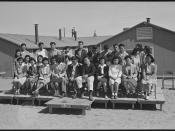Granada Relocation Center, Amache, Colorado. Amache high school National Honor Society members. - NARA - 537172