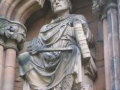 English: Sculpture of King William I on the exterior of Lichfield Cathedral Ελληνικά: Γουλιέλμος Α' της Αγγλίας