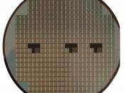 English: Photograph of a silicon wafer.