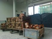 English: Some pots at the Oscar Schindler enamel work factory in 2011.