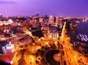 Ho Chi Minh City's Downtown at night
