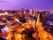 Ho Chi Minh City's Downtown at night