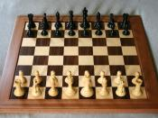 A game of chess, in the starting position.