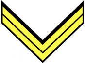 Confederate Corporal insignia in cavalry yellow