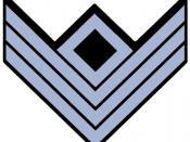 Confederate First Sergeant Rank Insignia in Infantry blue