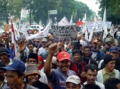 Farmers protesting for Land Reform in Indonesia