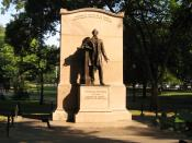 Wendell Phillips Memorial at Boston Public Garden.