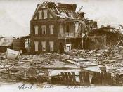 English: Convent in Belize City, after the 1931 Belize hurricane