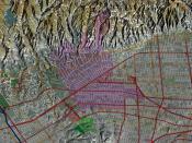English: Beverly Hills, California, computer image generated using TruFlite Deutsch: Beverly Hills, Kalifornien (TruFlite-Computergrafik)
