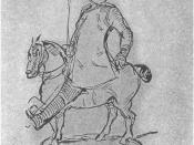 Caricature of Thackeray by Thackeray