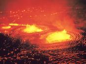 English: http://libraryphoto.cr.usgs.gov/cgi-bin/show_picture.cgi?ID=ID.%20HVO%20%2014ct Hawaii Volcanoes National Park. May 1954 eruption of Kilauea Volcano. Halemaumau fountains. Photo by J.P. Eaton, May 31, 1954.
