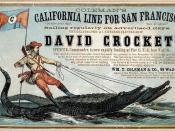 David Crockett clipper ship card