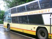 Chinese Culture University School Bus