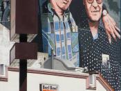 Jaime Escalante Mural and Yoshinoya Beef Bowl MacArthur Park LA March 2008