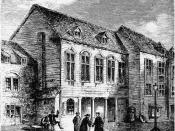 Marshalsea Prison in London where Hutchinson's father was imprisoned for two years for