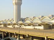 Ronald Reagan Washington National Airport, Air Traffic Control Tower & Terminal C (taken from DC Metro station)