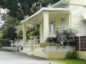 English: The old house of the Mirabal family and current residence of Dede Mirabal.