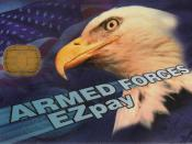 English: Armed Forces EZpay smart card