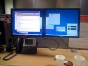 dual screen widescreen desktop