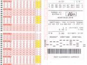 English: Scan of the new Israeli lottery ticket