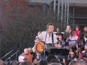 English: Bruce Springsteen at Barack Obama rally in Cleveland, Ohio.