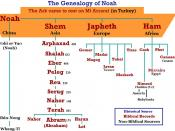 The Genealogy of Noah after the flood up to Abraham according to the Bible