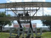 The Wright Flyer statue at Embry-Riddle Aeronautical University's Daytona Beach, FL, USA campus