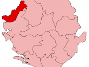 Location of Kambia District in Sierra Leone