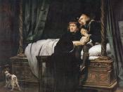 England king Edward V and his brother Duke York in Tower of London by French painter Paul Delaroche