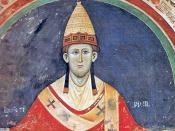 English: Pope Innocent III wearing a Y-shaped pallium.