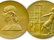 The Pulitzer Prize gold medal award 한국어: 퓰리처상 공공 보도 부문 상인 금메달