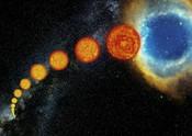 Life cycle of a Sun-like star.