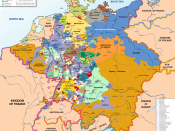 English: Map of the Holy Roman Empire, 1789, translated (somewhat) from original German version on Wikipedia Commons