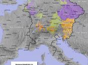 The Holy Roman Empire from 1273 to 1378. ---- Habsburg lands Luxembourg lands Wittelsbach lands