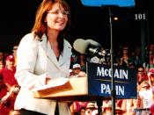 English: This is a picture of Sarah Palin speaking at a campaign rally in O'Fallon, Missouri on August 31, 2008.