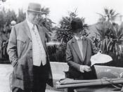 Owner William Randolph Hearst with architect Julia Morgan in 1926. Photograph by Irvin Willat.