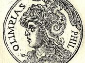 English: Olympias was a Greek princess of Epirus, daughter of king Neoptolemus I of Epirus, the fourth wife of the king of Macedonia, Philip II, and mother of Alexander the Great.