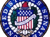 English: Seal of the United States Senate. Esperanto: La bildo estas kopiita de wikipedia:en. La originala priskribo estas: