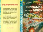 Cover of a 1958 Ace Books reprint of Brigands of the Moon, by Ray Cummings.