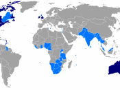 Dark blue: Common law jurisdictions. Light blue: Jurisdictions with mixed systems using elements of common law