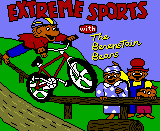 Title screen for Extreme Sports with the Berenstain Bears
