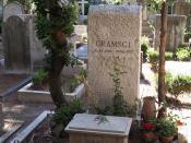 Antonio Gramsci grave, Protestant/A-Catholic cemetery, Rome, Italy.